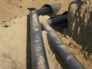 Бурение и прокладка водопровода методом ГНБ