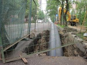 Прокладка футляра водопровода под дорогой