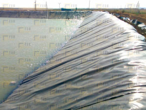 Гидроизоляция объекта Пруд-накопитель для Югагрохолдинг 3
